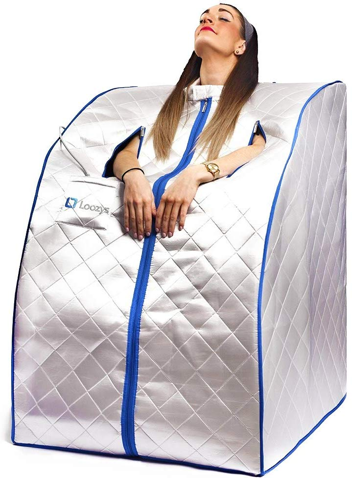 Portable Infrared One Person Sauna with Heating Foot Pad and Chair