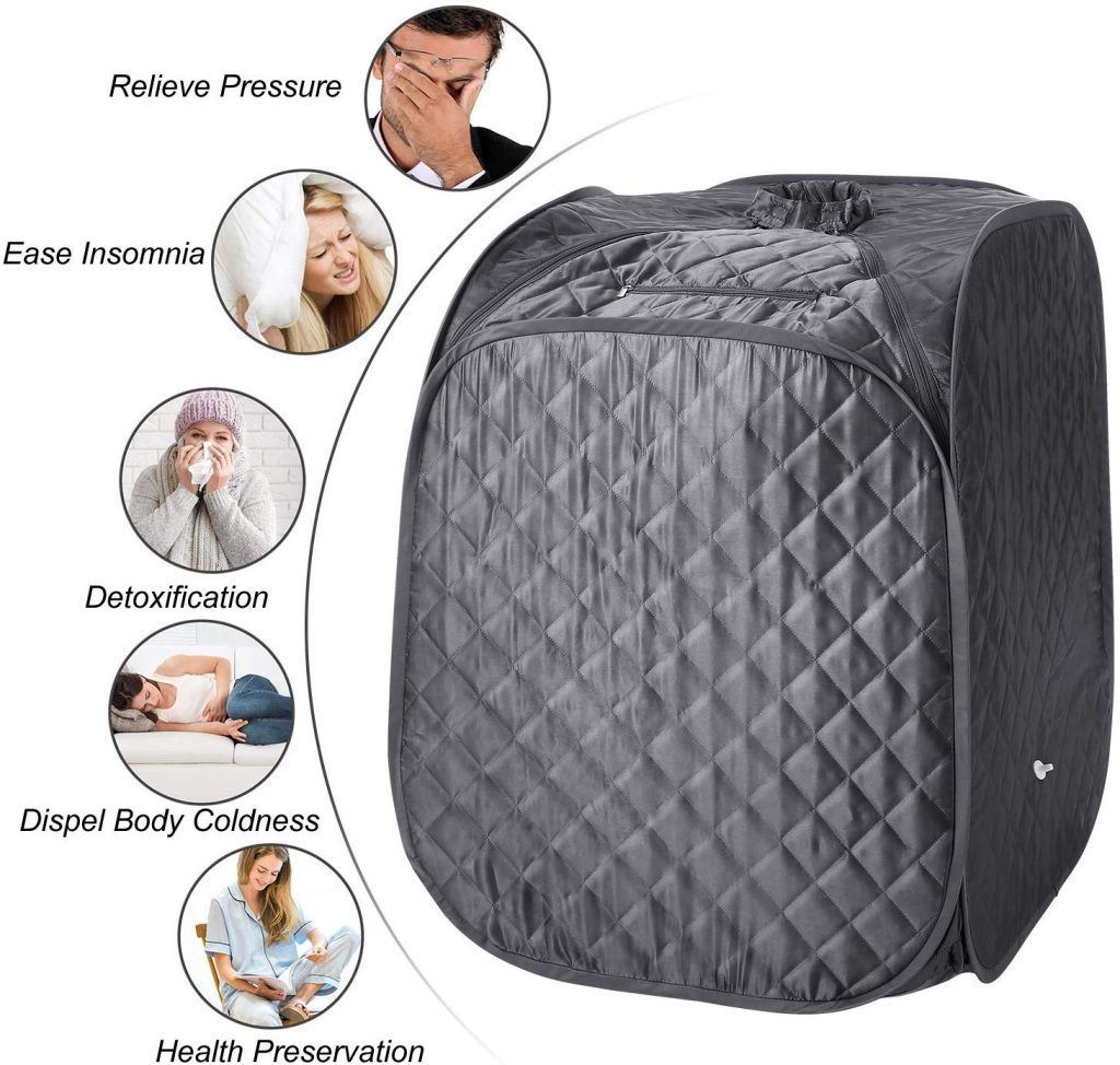 Portable Steam Sauna Spa, 2L Personal Therapeutic Sauna