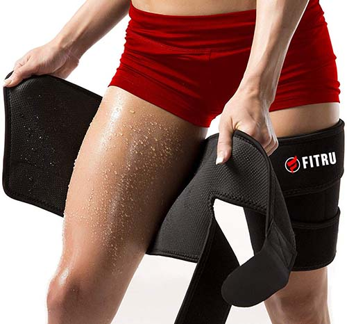 Fitru Premium Thigh Trimmers for Men & Women | Increase Sweating & Circulation | Like A Body Wrap Sauna Waist Trainer for Your Legs