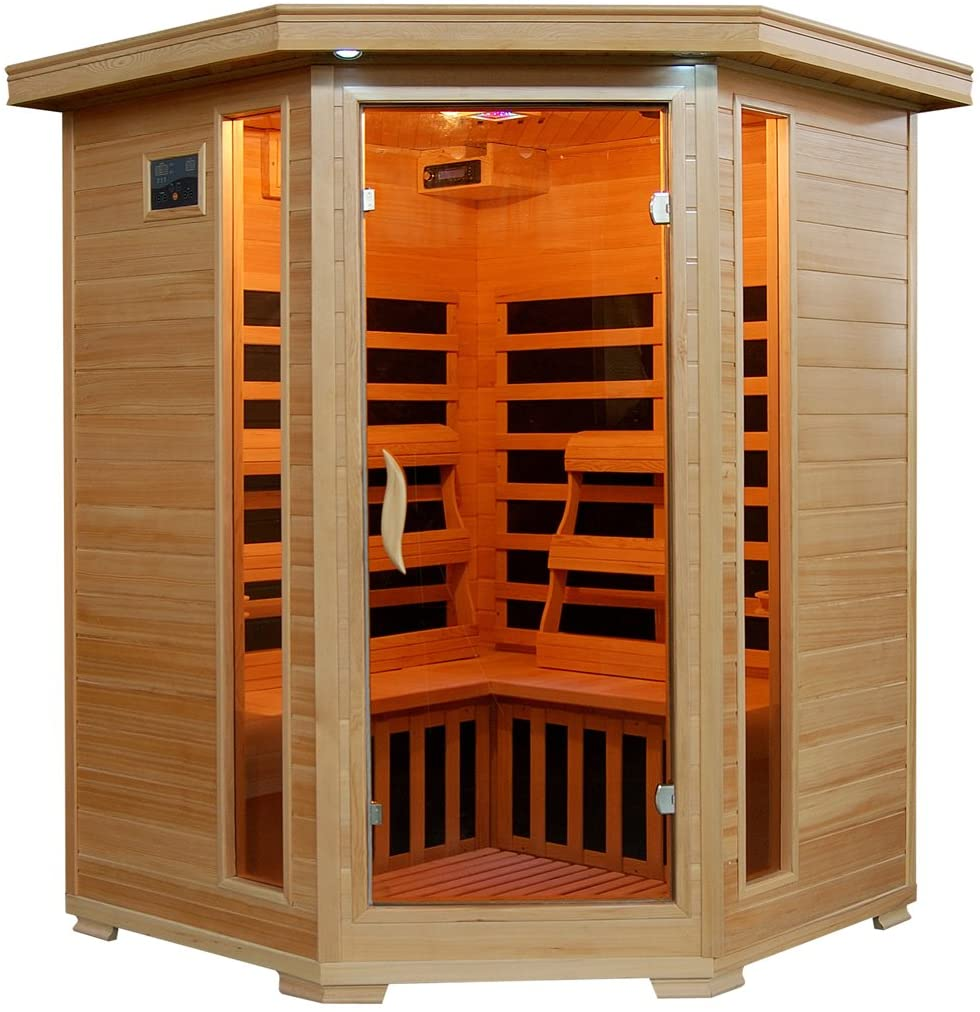 Best 3 Person Hemlock Corner Infrared Sauna