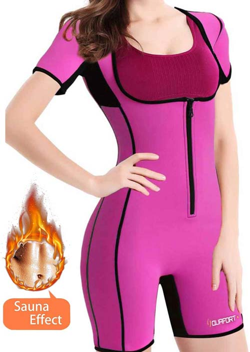 QUAFORT shape wear Full Body sauna suit for weight loss